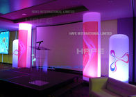 LED RGB Inflatable Cylinder 162 Watt Balloon Light Tower Music Festival Decoration