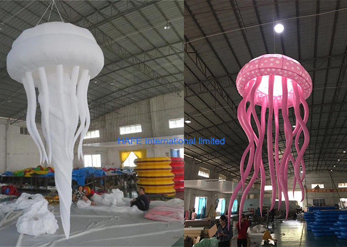 1.6m Dia Night Club Inflatable Advertising Balloon Decorative Night Light Jellyfish
