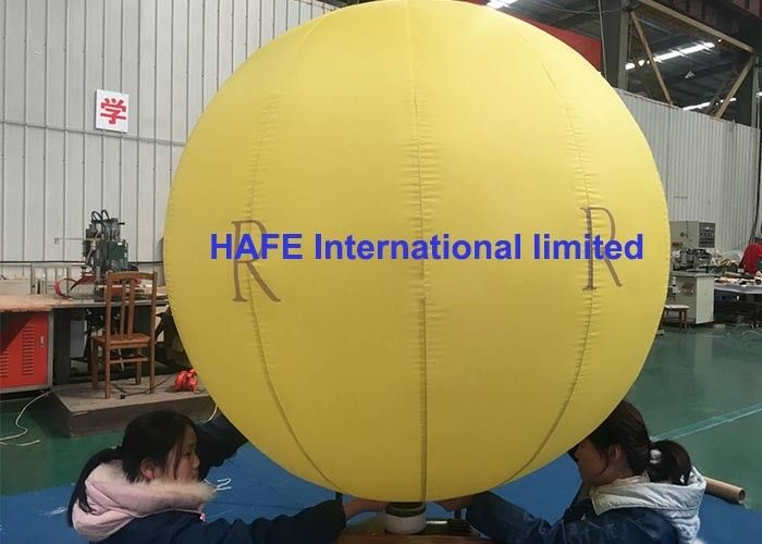 Sealed Lock Air Type Party Inflatable Advertising Balloon 2 Meter With Logo Printing